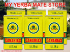 6 Kilo Canarias Yerba Mate From Uruguay W/out Stems - Free Shipping to U.S!